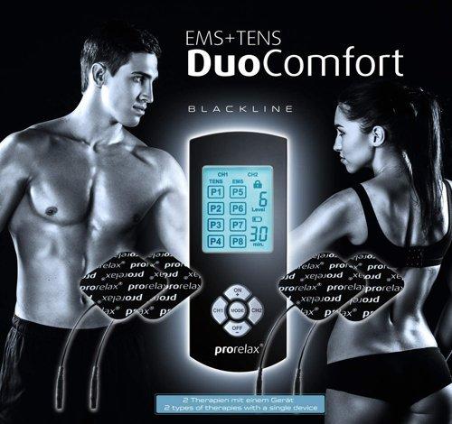 Elektrostymulator PRORELAX TENS+EMS Duo Comfort Blackline