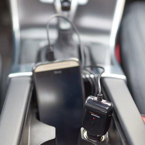 Ładowarka samochodowa Micro USB AMAZON BASICS